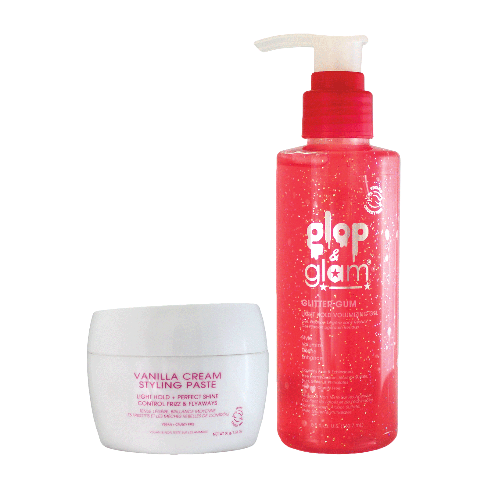 Vanilla Styling Cream, Glitter Gum Light Hold Gel for Girls