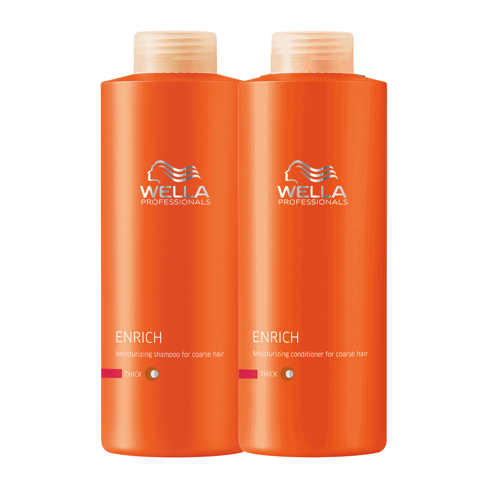 Enrich Shampoo, Conditioner for Coarse Hair Liter Duo