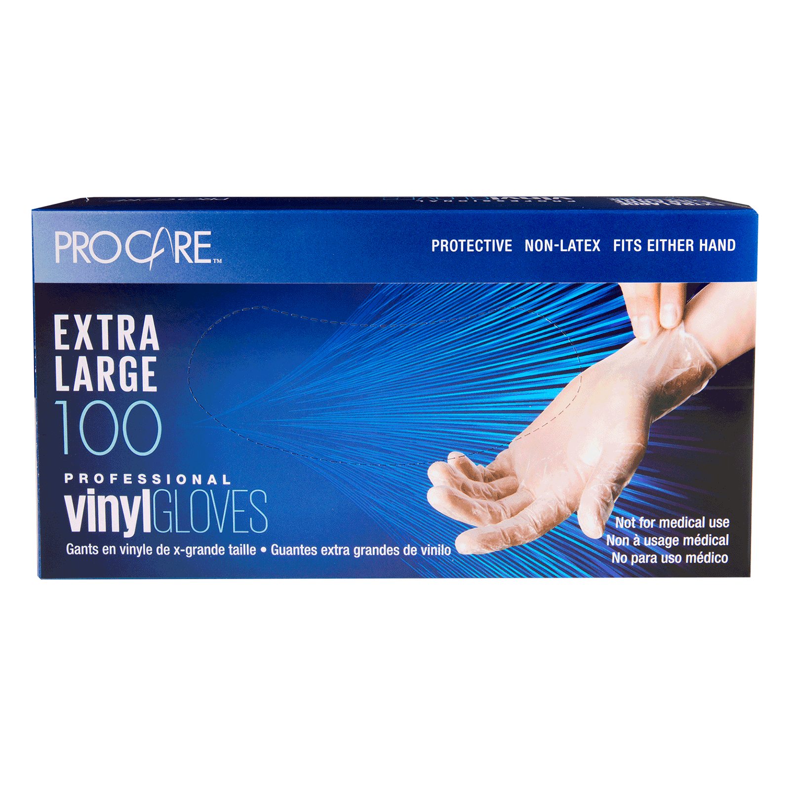 ProCare Vinyl Powdered Gloves - Extra Large