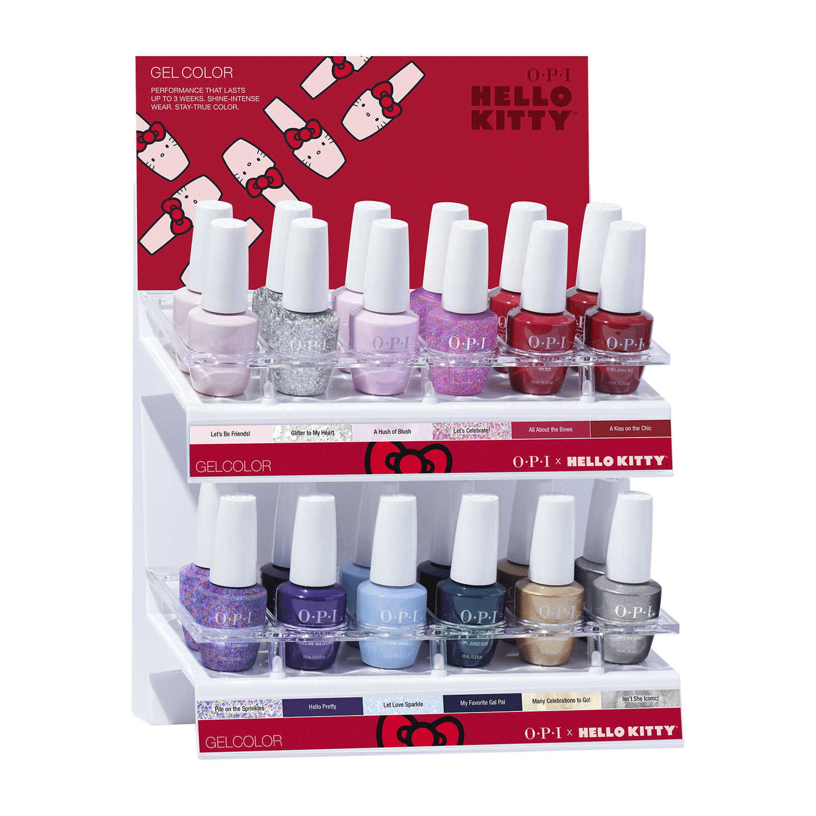 GelColor Hello Kitty Collection - 24 Piece Display