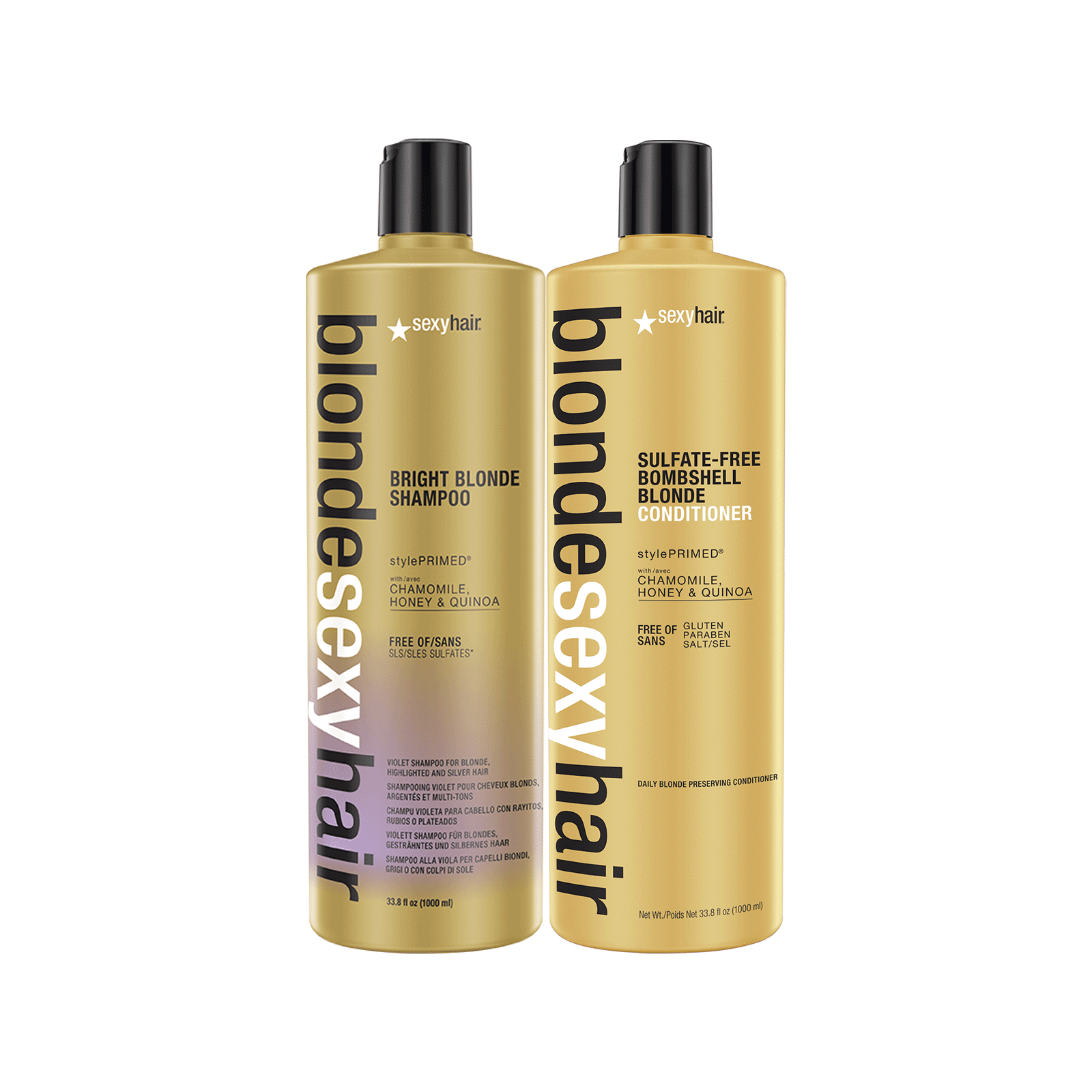 Bombshell Blonde Conditioner, Bright Blonde Shampoo Liters