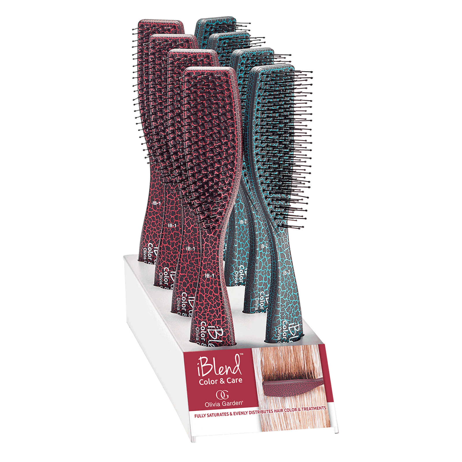 iBlend Color & Care Brush - 8 piece Display