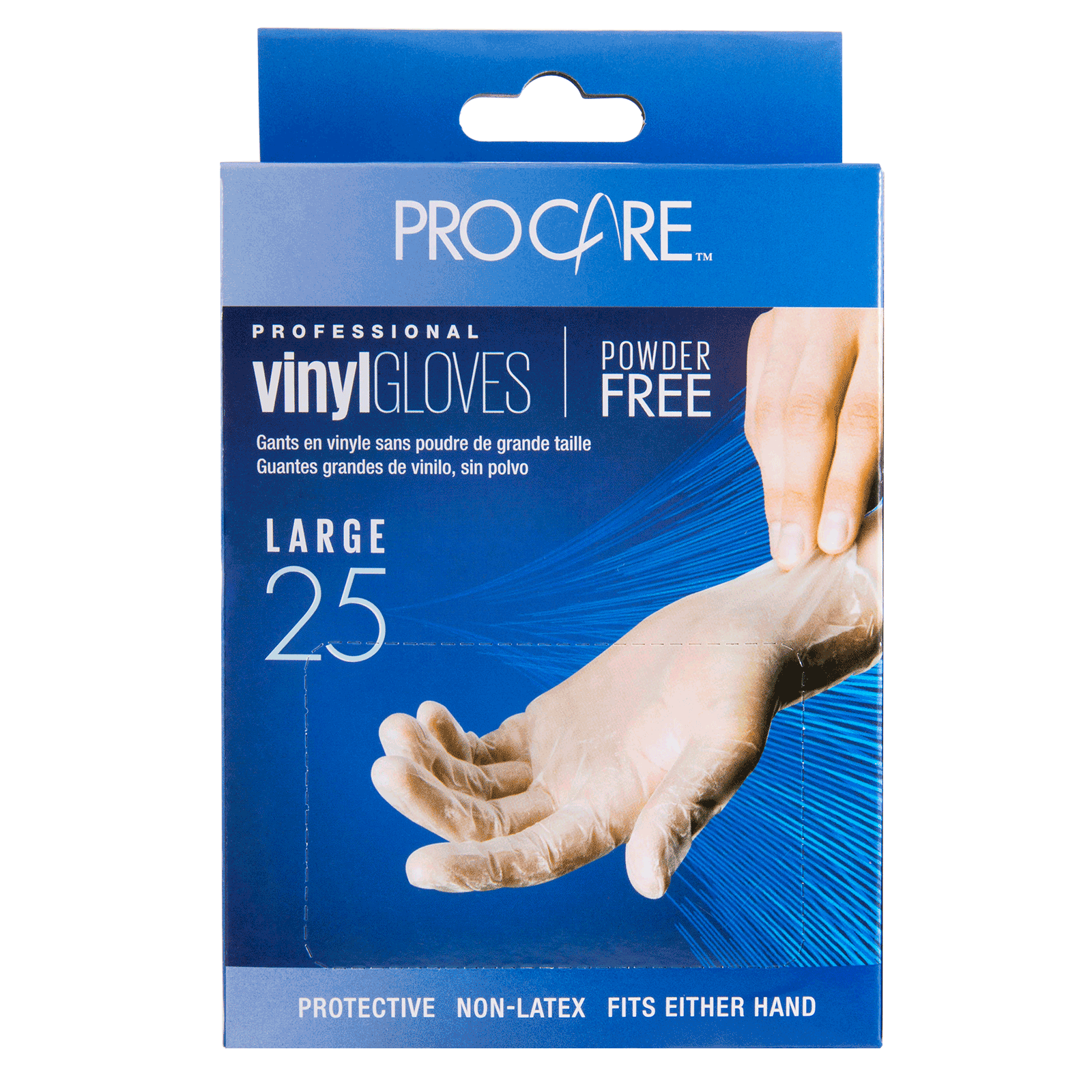 ProCare Vinyl Powder-Free Gloves - Large