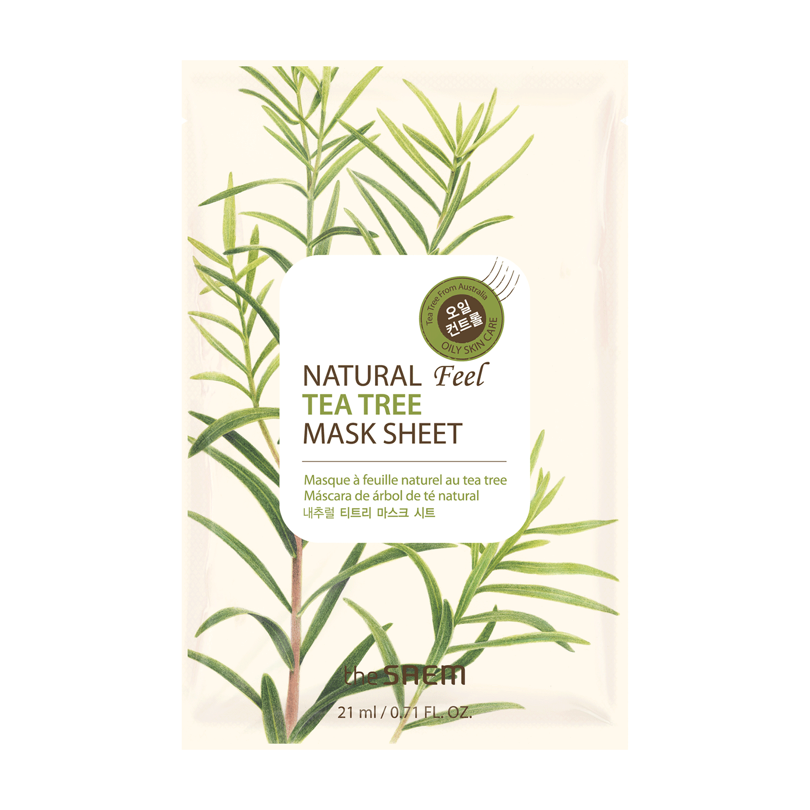 Natural Feel Sheet Mask - Tea Tree
