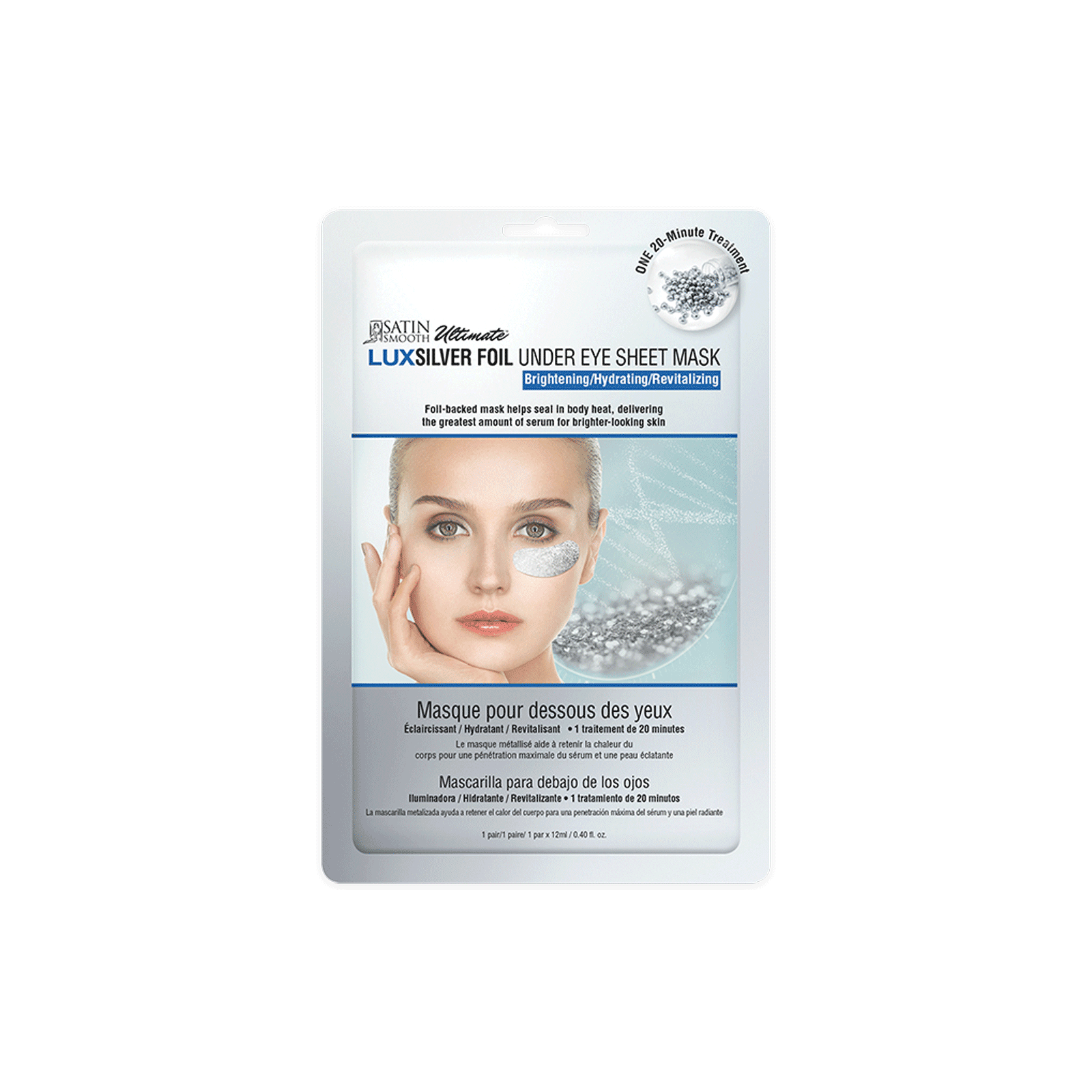 Lux Foil Under Eye Sheet Mask - Silver